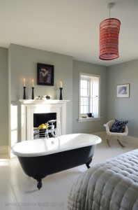 Black Millbrook Cast Iron Bath