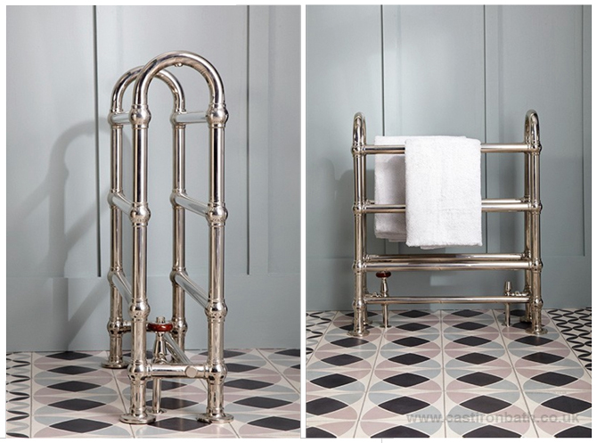 The towel warmer you won't want to cover up - Cast Iron Bath