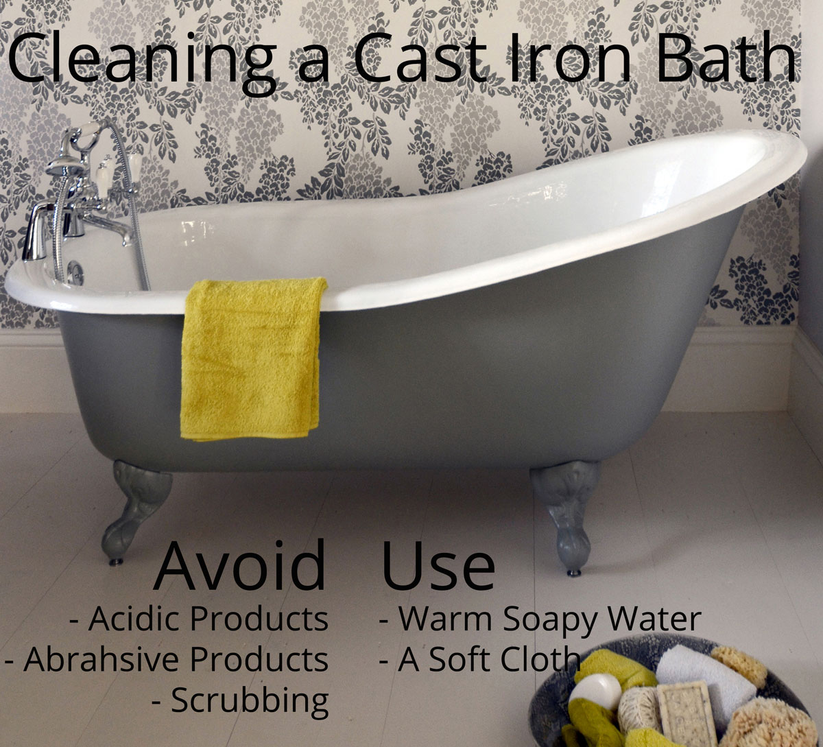 How do I clean my cast iron bath?   Cast Iron Bath CompanyCast