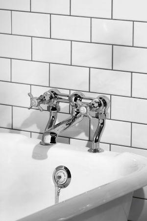 Aysgarth Bath Filler Tap X Top Chrome 3/4BSP