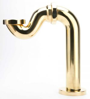 Shallow Seal Bath Trap - Polished Brass