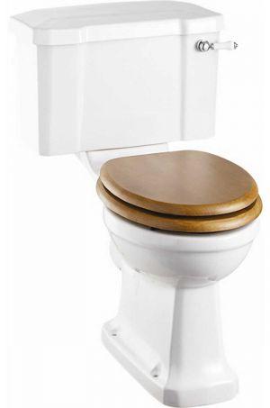The Burlington Close Coupled Ceramic Lever Toilet