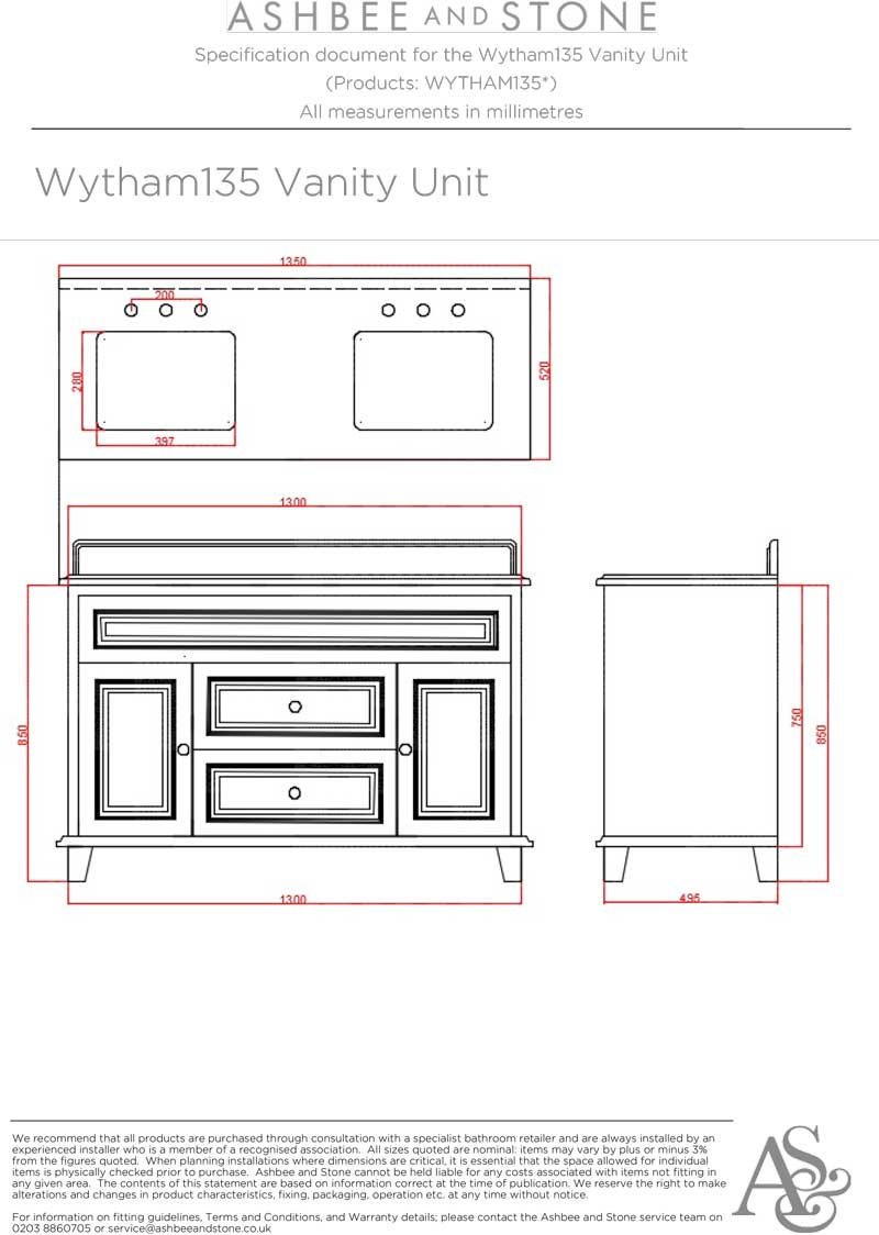 Wytham Double Vanity Unit