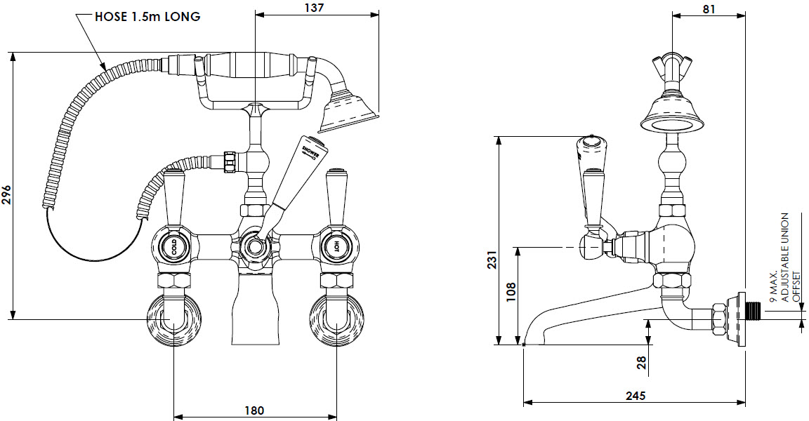 Specification drawing for - CIBC-BSM-B-WM-PB
