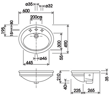 Specification drawing for - HIBASSCAWHIBL