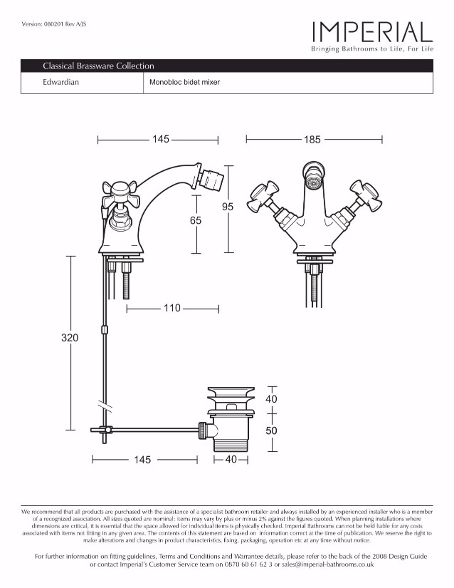 Specification drawing for - XG61200100