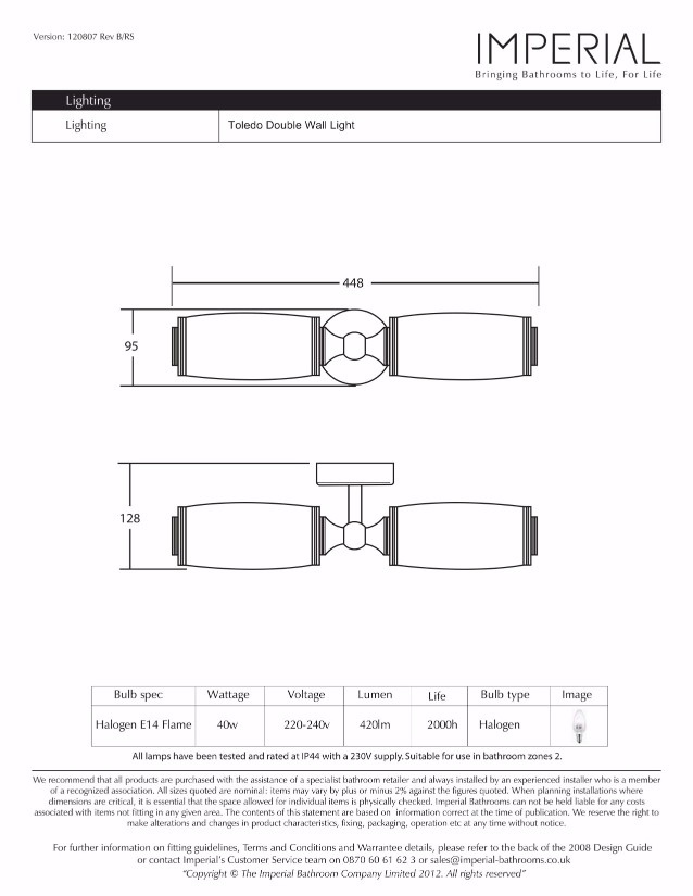 Specification drawing for - XLP1000500
