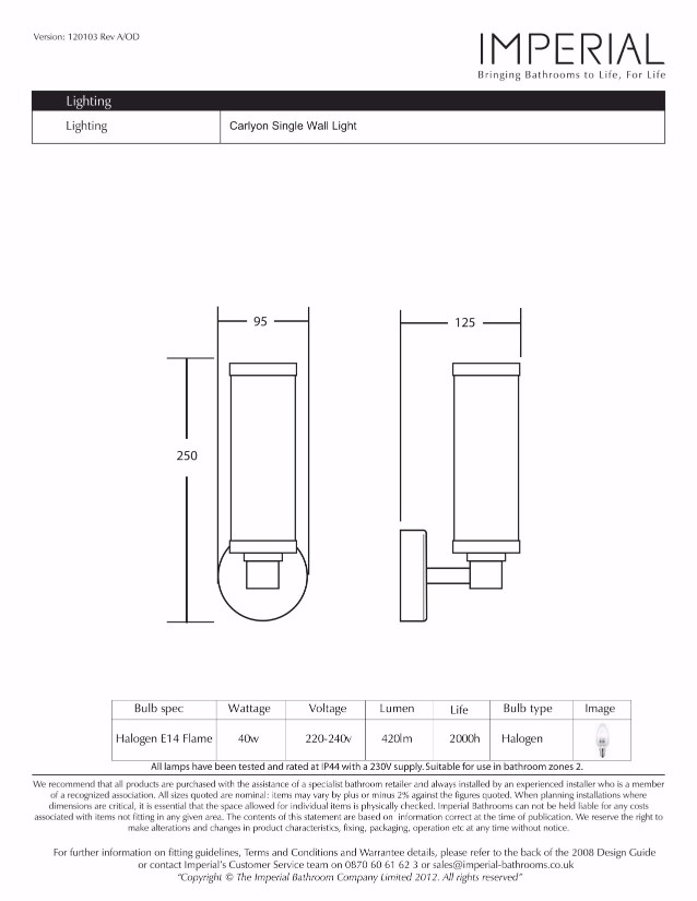 Specification drawing for - XLP1012100