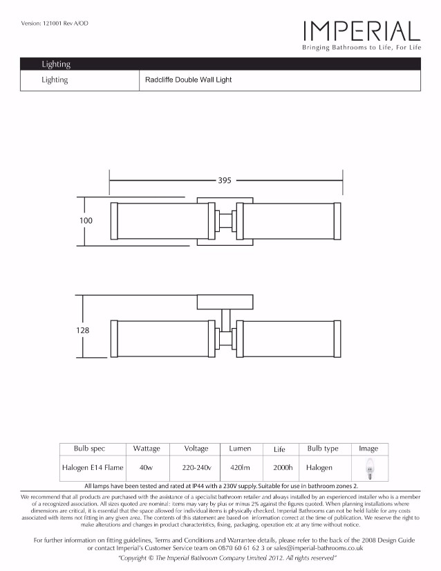 Specification drawing for - XLP1015100