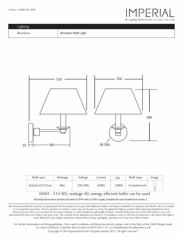 Specification drawing for - ZXLP1000120CP