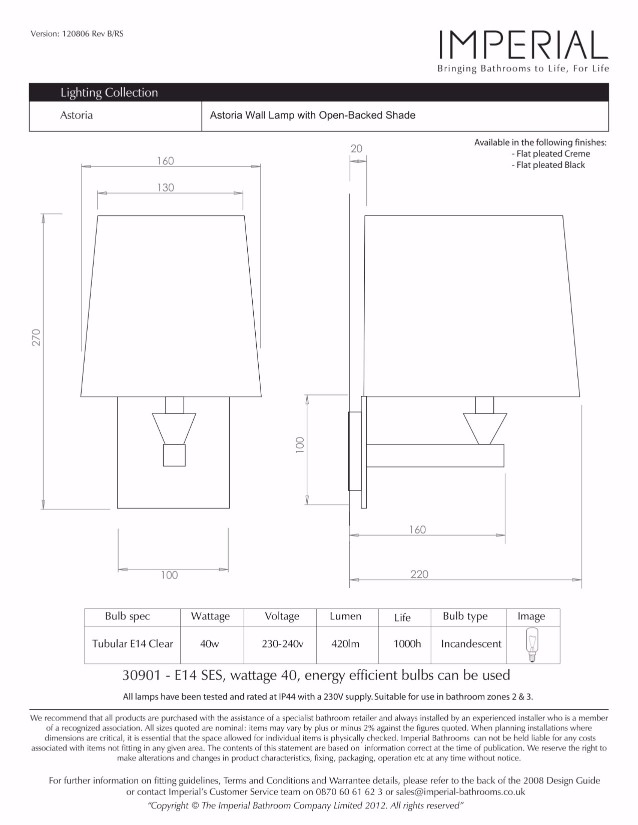 Specification drawing for - ZXLP1000920SQ