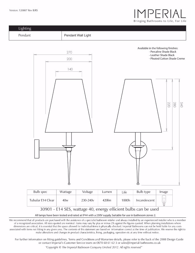 Specification drawing for - ZXLP1011100C